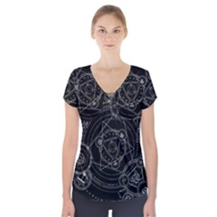 Formal Magic Circle Short Sleeve Front Detail Top