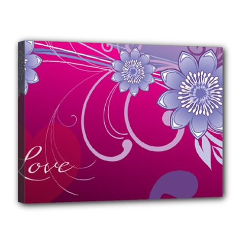 Love Flowers Canvas 16  x 12
