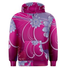 Love Flowers Men s Zipper Hoodie