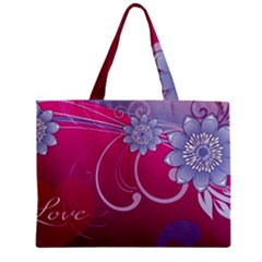 Love Flowers Zipper Mini Tote Bag