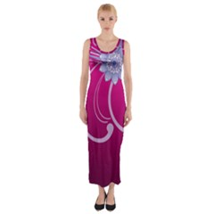 Love Flowers Fitted Maxi Dress