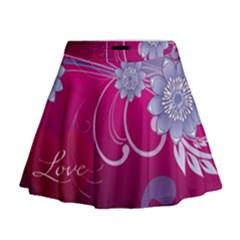 Love Flowers Mini Flare Skirt