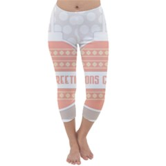 Merry Christmas Capri Winter Leggings