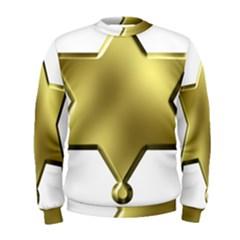 Sheriff Badge Clip Art Men s Sweatshirt