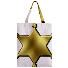 Sheriff Badge Clip Art Zipper Classic Tote Bag