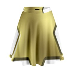 Sheriff Badge Clip Art High Waist Skirt