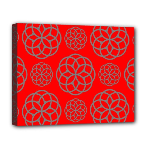 Geometric Circles Seamless Pattern Deluxe Canvas 20  x 16
