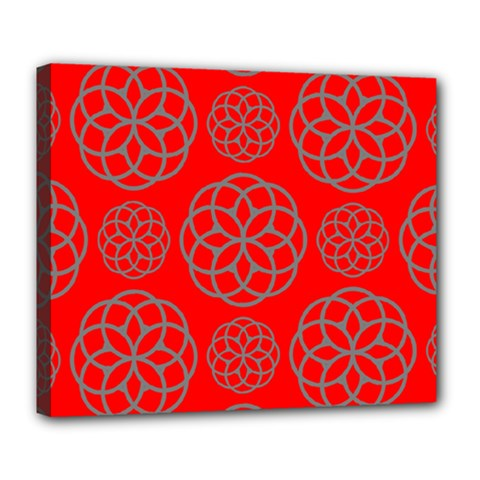 Geometric Circles Seamless Pattern Deluxe Canvas 24  x 20