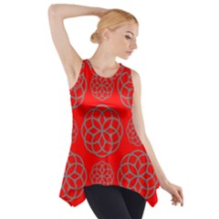 Geometric Circles Seamless Pattern Side Drop Tank Tunic