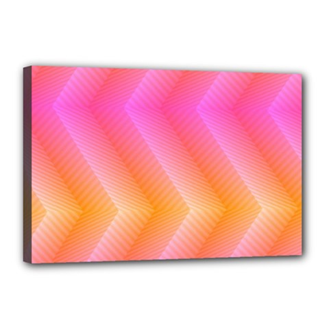 Pattern Background Pink Orange Canvas 18  x 12