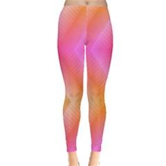 Pattern Background Pink Orange Leggings