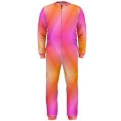 Pattern Background Pink Orange OnePiece Jumpsuit (Men)