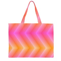 Pattern Background Pink Orange Large Tote Bag