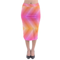 Pattern Background Pink Orange Midi Pencil Skirt