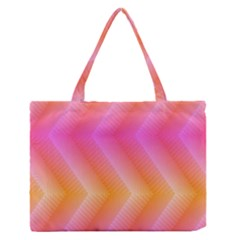 Pattern Background Pink Orange Medium Zipper Tote Bag
