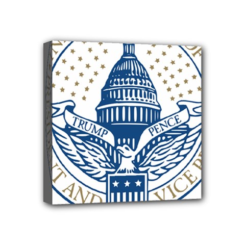 Presidential Inauguration USA Republican President Trump Pence 2017 Logo Mini Canvas 4  x 4