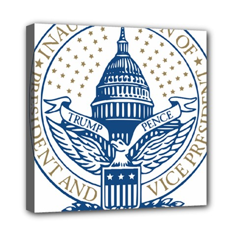 Presidential Inauguration USA Republican President Trump Pence 2017 Logo Mini Canvas 8  x 8