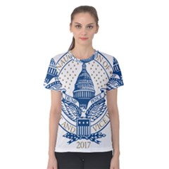 Presidential Inauguration USA Republican President Trump Pence 2017 Logo Women s Cotton Tee