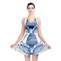 Presidential Inauguration USA Republican President Trump Pence 2017 Logo Reversible Skater Dress