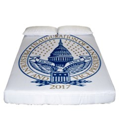 Presidential Inauguration USA Republican President Trump Pence 2017 Logo Fitted Sheet (California King Size)