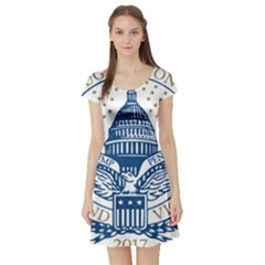Presidential Inauguration USA Republican President Trump Pence 2017 Logo Short Sleeve Skater Dress