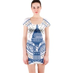 Presidential Inauguration USA Republican President Trump Pence 2017 Logo Short Sleeve Bodycon Dress