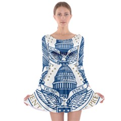 Presidential Inauguration USA Republican President Trump Pence 2017 Logo Long Sleeve Skater Dress