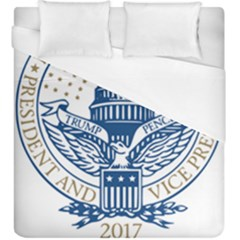 Presidential Inauguration USA Republican President Trump Pence 2017 Logo Duvet Cover (King Size)