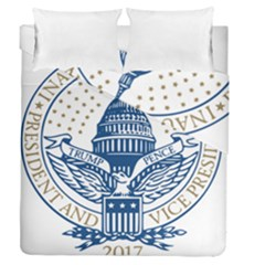 Presidential Inauguration USA Republican President Trump Pence 2017 Logo Duvet Cover Double Side (Queen Size)