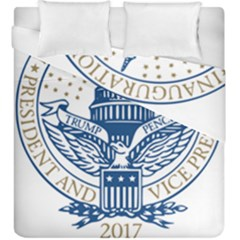 Presidential Inauguration USA Republican President Trump Pence 2017 Logo Duvet Cover Double Side (King Size)