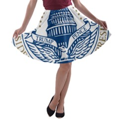 Presidential Inauguration USA Republican President Trump Pence 2017 Logo A-line Skater Skirt