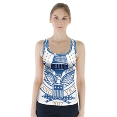 Presidential Inauguration USA Republican President Trump Pence 2017 Logo Racer Back Sports Top