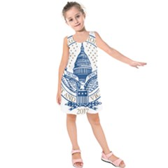 Presidential Inauguration USA Republican President Trump Pence 2017 Logo Kids  Sleeveless Dress