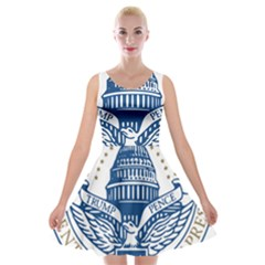Presidential Inauguration USA Republican President Trump Pence 2017 Logo Velvet Skater Dress
