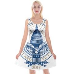 Presidential Inauguration USA Republican President Trump Pence 2017 Logo Reversible Velvet Sleeveless Dress