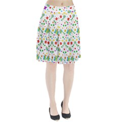 Cute butterflies and flowers pattern Pleated Skirt