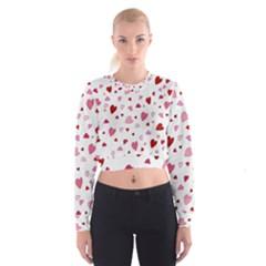 Valentine s Day Hearts Women s Cropped Sweatshirt