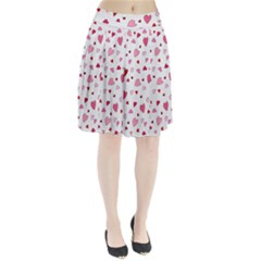 Valentine s day hearts Pleated Skirt