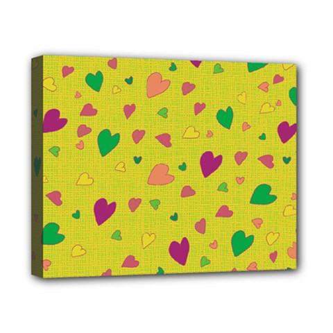 Colorful hearts Canvas 10  x 8