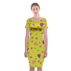 Colorful hearts Classic Short Sleeve Midi Dress