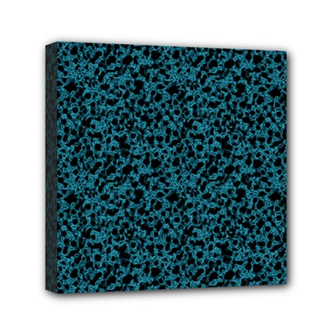 Blue coral pattern Mini Canvas 6  x 6