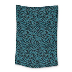 Blue Coral Pattern Small Tapestry