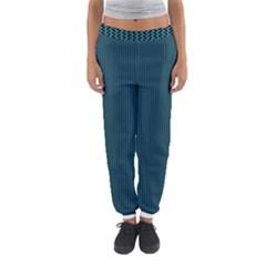Blue Texture Women s Jogger Sweatpants