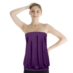 Purple texture Strapless Top