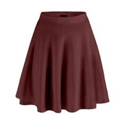 Red texture High Waist Skirt