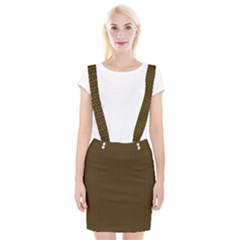 Gold Texture Suspender Skirt