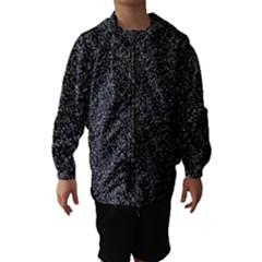Black elegant texture Hooded Wind Breaker (Kids)