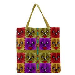 Peace Dogs Grocery Tote Bag