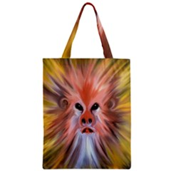 Monster Ghost Horror Face Zipper Classic Tote Bag