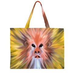 Monster Ghost Horror Face Large Tote Bag
